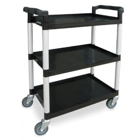 Standard Duty Plastic Utility Cart - Black