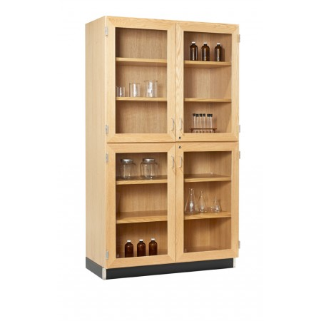 Tall Storage Cabinets (4 Glazed Doors)