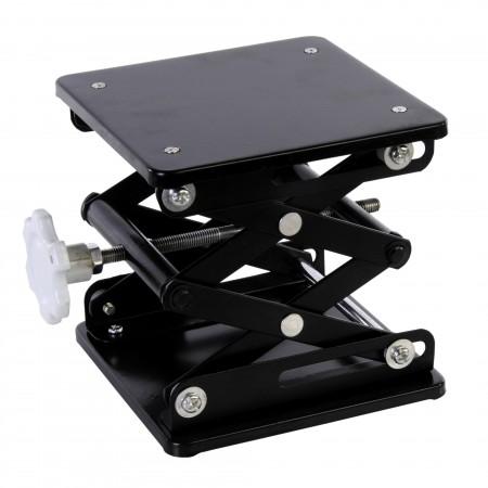 """Laboratory Scissor Jacks, Black Enamel, Plate Size 6""""X6"""""""