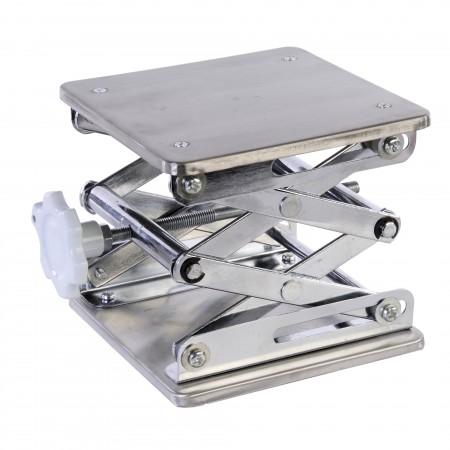 """Laboratory Scissor Jacks, Stainless Steel, Plate Size 6""""X6"""""""