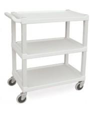 Standard Duty Plastic Utility Cart - Beige