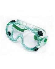 Cover Goggle, Green Tinted Body, Direct Vents, Clear Anti-Fog Lens