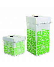 Cardboard Disposal Cartons for Glass