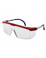 Sebring®400 Series Protective Eyewear, Burgundy Adjustable Frame / Clear Lens