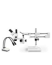 PA-5F-IHL20 Simul-Focal Trinocular Zoom Stereo Microscope - 0.7X - 4.5X Zoom Range, Dual Gooseneck LED Light
