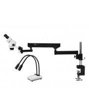 PA-8E-IHL20 Binocular Zoom Stereo Microscope - 0.7X - 4.5X Zoom Range, Dual Gooseneck LED Light