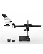 PA-2AEZ-IFR08 Binocular Zoom Stereo Microscope - 0.7X-4.5X Zoom Range, 0.5X & 2.0X Auxiliary Lenses, 144-LED Four-Zone Ring Light