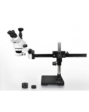 PA-2AFZ-IFR07-3N Simul-Focal Trinocular Zoom Stereo Microscope - 0.7X-4.5X Zoom Range, 0.5X & 2.0X Auxiliary Lenses, 144-LED Ring Light, 3MP Digital Eyepiece Camera
