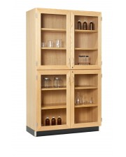 Tall Storage Cabinets (4 Glazed Doors)