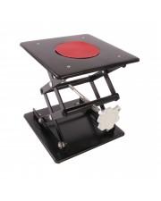 """Laboratory Scissor Jacks, Black Enamel, Plate Size 8""""X8"""""""