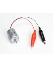 Miniature DC Motor with Alligator Leads