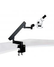 PA-7E-IFR07 Binocular Zoom Stereo Microscope - 0.7X - 4.5X Zoom Range, 144-LED Ring Light