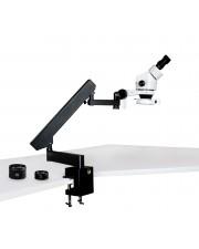 PA-7EZ-IFR07 Binocular Zoom Stereo Microscope - 0.7X - 4.5X Zoom Range, 0.5X & 2.0X Auxiliary Lense, 144-LED Ring Light