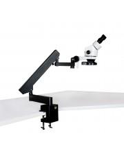PA-7E-IFR08 Binocular Zoom Stereo Microscope - 0.7X - 4.5X Zoom Range, 144-LED Four-Zone Ring Light