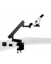 PA-7EZ-IFR08 Binocular Zoom Stereo Microscope - 0.7X - 4.5X Zoom Range, 0.5X & 2.0X Auxiliary Lenses, 144-LED Four-Zone Ring Light