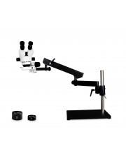 PA-9EZ-IFR07 Binocular Zoom Stereo Microscope - 0.7X - 4.5X Zoom Range, 0.5X & 2.0X Auxiliary Lenses, 144-LED Ring Light