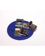 Miniature Lamp Holder, Fahnestock Clips