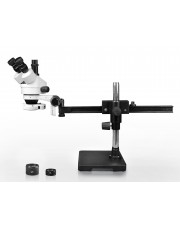 PA-2AFZ-IFR07 Simul-Focal Trinocular Zoom Stereo Microscope - 0.7X-4.5X Zoom Range, 0.5X & 2.0X Auxiliary Lenses, 144-LED Ring Light