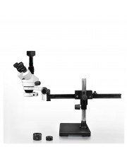 PA-2AFZ-IFR07-5N Simul-Focal Trinocular Zoom Stereo Microscope - 0.7X-4.5X Zoom Range, 0.5X & 2.0X Auxiliary Lenses, 144-LED Ring Light, 5MP Digital CMOS Camera